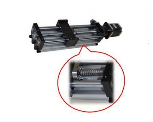Linear Actuator THK90 – Ballscrew Slide Twin Round Shaft, 0.1meter