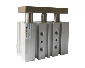 Three cylinder SMC type guide cylinder Bore 12mm
